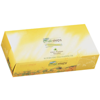 Small Steps® Soft & Strong 2 Ply White Hypoallergenic Facial Tissue 144 Ct Box