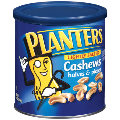 Planters Halves & Pieces Lightly Salted Cashews 14 Oz Canister