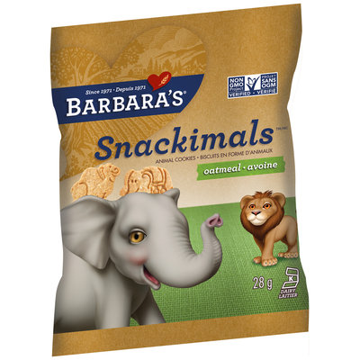 Barbara's® Snackimals™ Oatmeal Cookies 28g Bag