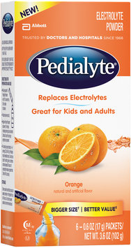 Pedialyte® Orange Electrolyte Powder 6-0.6 oz. Packets