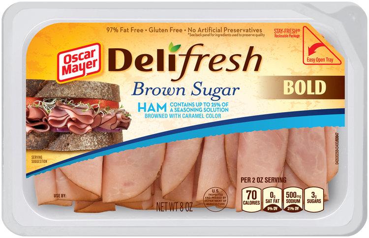 Oscar Mayer Deli Fresh Brown Sugar Ham Lunch Meat