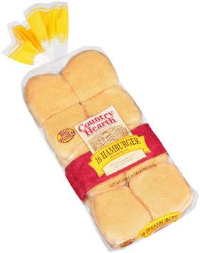 Country Hearth® Hamburger Sliced Buns 16 ct Bag