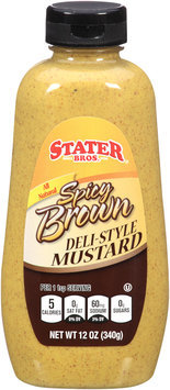 Stater Bros.® All Natural Spicy Brown Deli-Style Mustard 12 oz. Squeeze Bottle