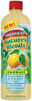 Arrowhead Nature's Blends Spring Water & Real Juice Lemonade 20 fl. oz. Plastic Bottle