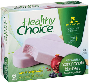 Healthy Choice® Pomegranate Blueberry Frozen Yogurt Bars 6 ct Box