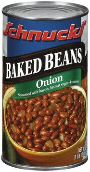 Schnucks Onion Seasoned Baked Beans 28 Oz Can