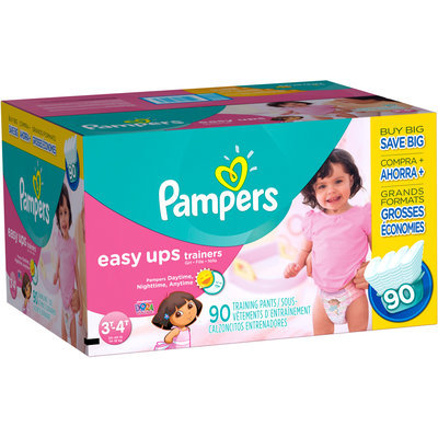 Pampers® Easy Ups Value Pack Girls Size 3T-4T Training Pants 90 ct Box