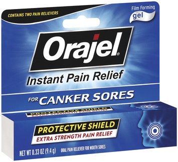 Orajel For Canker Sores Film Forming Gel Oral Pain Reliever .33 Oz Peg