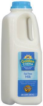 Golden Creme® Fat Free Milk 1 qt. Jug