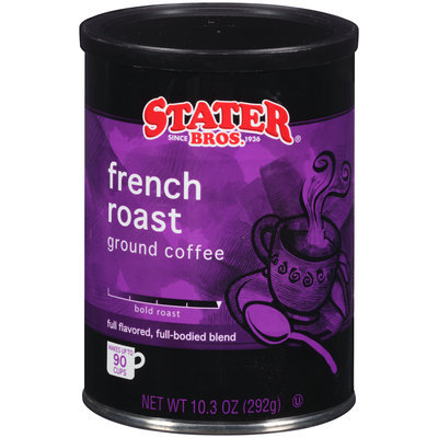 Stater Bros.® French Roast Bold Roast Ground Coffee 10.3 oz. Canister