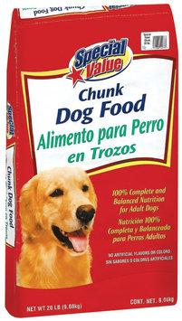 Special Value Chunk Dog Food 20 Lb Bag