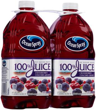 Ocean Spray® 100% Cranberry Concord Grape Juice 2-64 fl. oz. Bottles