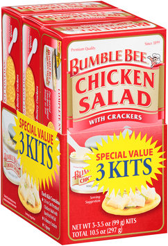 Bumble Bee® Chicken Salad with Crackers 3 Kits 10.5 oz. Package