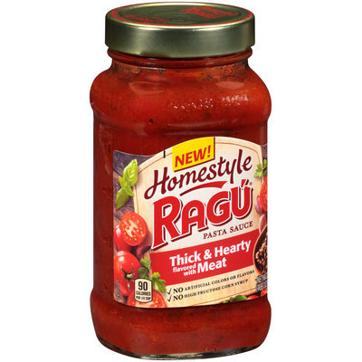 Ragu® Homestyle Thick & Hearty Flavored with Meat Pasta Sauce 23 oz. Jar