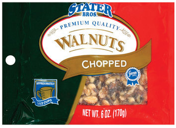 Stater Bros. Chopped Walnuts 6 Oz Peg