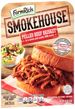 Farm Rich® Smokehouse™ Pulled Beef Brisket 16 oz. Tray