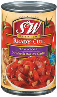 S&W®  Ready-Cut Diced Tomatoes with Roasted Garlic 14.5 oz. Can