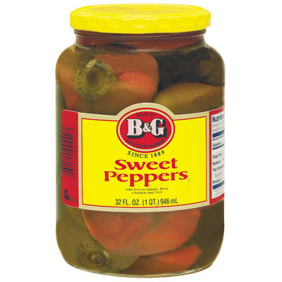 B&G Sweet Peppers 32 Oz Jar