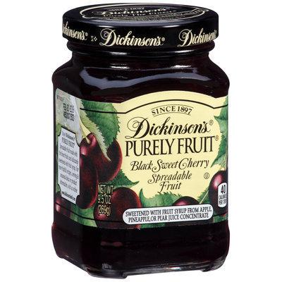 Dickinson's® Purely Fruit® Black Sweet Cherry Spreadable Fruit 9.5 oz. Jar
