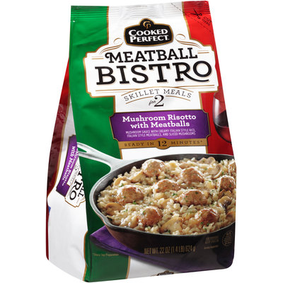 Cooked Perfect® Meatball Bistro Mushroom Risotto with Meatballs 22 oz. Bag