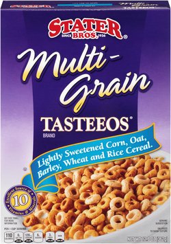 Stater Bros. Multi-Grain Tasteeos Brand Lightly Sweetened Corn, Oat, Barley, Wheat and Rice Cereal, 12.8 oz Box