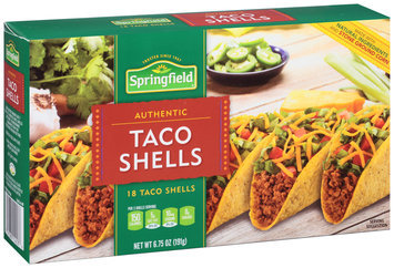 Springfield® Authentic Taco Shells 6.75 oz. Box