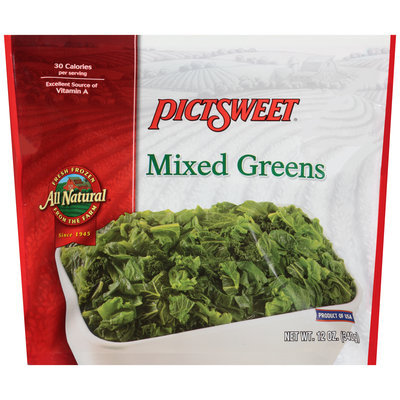 Pictsweet® All Natural Mixed Greens 12 oz. Bag