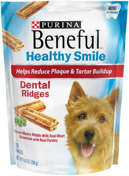 Purina Beneful Healthy Smile Ridges Mini Dental Dog Snacks 24 ct Pouch