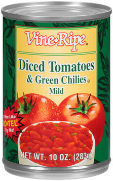Vine-Ripe® Mild Diced Tomatoes & Green Chiles 10 oz. Can