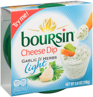 Boursin® Light Garlic & Herbs Cheese Dip 5.6 oz. Tub