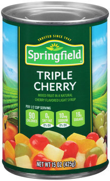 Springfield® Triple Cherry Fruit Cocktail 15 oz. Can