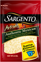 Sargento® Artisan Blends® Authentic Mexican Shredded Cheese 8 oz. Stand-Up Bag