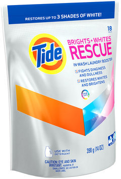 Tide Brights + Whites Rescue In-Wash Laundry Booster Pacs,18 loads