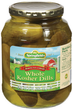 Springfield Kosher Dills Whole  Pickles  46 Fl Oz Jar