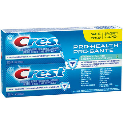 Crest Pro-Health Original Clean Mint Flavour Toothpaste, 100 mL Twin Pack