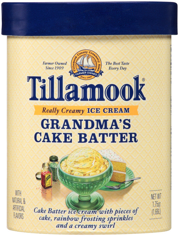 TillamookR Grandmas Cake Batter Ice Cream 175 Qt Tub Reviews 2019