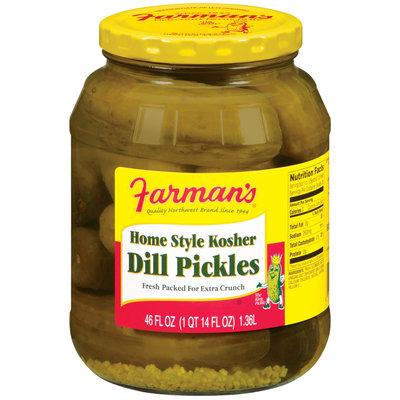 Farman's Home Style Kosher Dill Pickles 46 Oz Jar