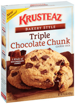 Krusteaz® Bakery Style Triple Chocolate Chip Cookie Mix 15.5 oz. Box