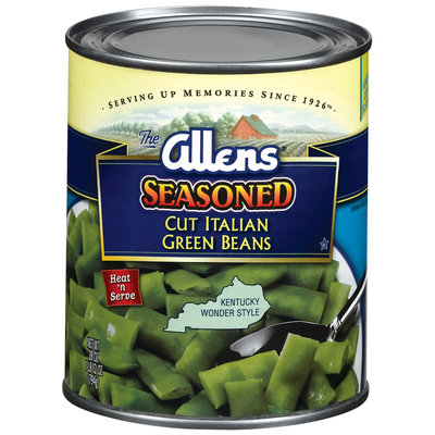 The Allens Cut Italian Seasoned Kentucky Wonder Style Green Beans 28 Oz Can