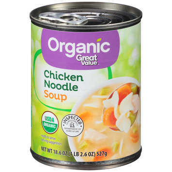 Great Value™ Organic Chicken Noodle Soup 18.6 oz. Pull-Top Can