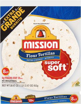 Mission® Extra Grande Super Soft™ Flour Tortillas 8 ct Bag