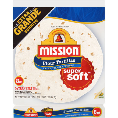 Mission® Extra Grande Super Soft™ Flour Tortillas 8 ct Bag