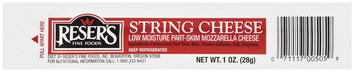 Reser's Fine Foods String Cheese 1 Oz Wrapper