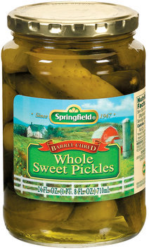 Springfield Whole Sweet  Pickles 24 Oz Jar