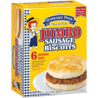 Tennessee Pride Sausage & Buttermilk Biscuits 21 Oz Sandwiches 6 Ct Box