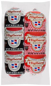 Higueral™ Popular/Mallita Cooked Salami 2-16 oz. Pack.