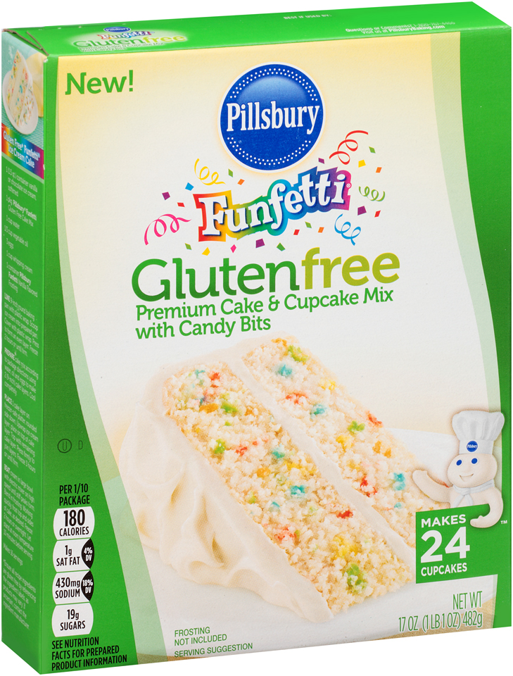 Pillsbury® Gluten Free Funfetti® Cake & Cupcake Mix with Candy Bits