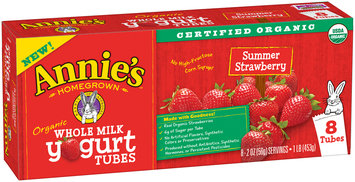 Annie's™ Organic Whole Milk Summer Strawberry Yogurt Tubes 8-2 oz. Packs