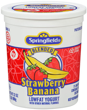 Springfield® Lowfat Yogurt Blended Strawberry Banana 32 oz.