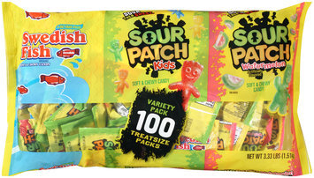 Swedish Fish, Sour Patch Kids, and Sour Patch Watermelon Candy Variety Pack